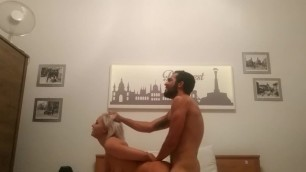 Doggystyle hair pulling with european blonde Anina Silk