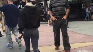Candid - Teen Booty in Grey Leggings