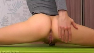 Flexible Hairy Teen Stretching