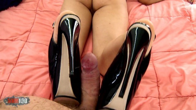 Chubby Russian Teen doing Foot Job to an Older Guy