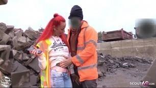 Strange Worker Seduce German Redhead Teen Bareback Outdoor