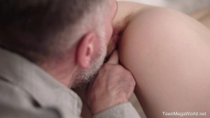 TeenMegaWorld - Old-n-Young - Tattooed man checks wet pussy